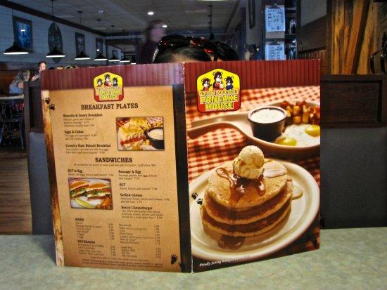Smoky Mountain Pancake House: Menu