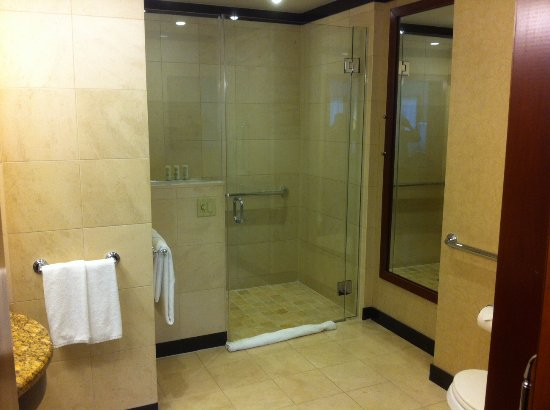 Sofitel Philadelphia Large bathroom with shower (no tub) separated with a translucent & Large bathroom with shower (no tub) separated with a translucent ...