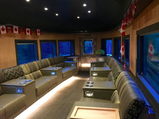 Via Rail Canada: The Last Car On The Train Is A Bar And Very Luxurious