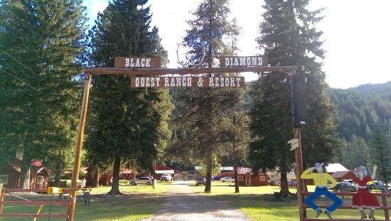 De Borgia, มอนแทนา: Entrance to the Black Diamond Guest Ranch!