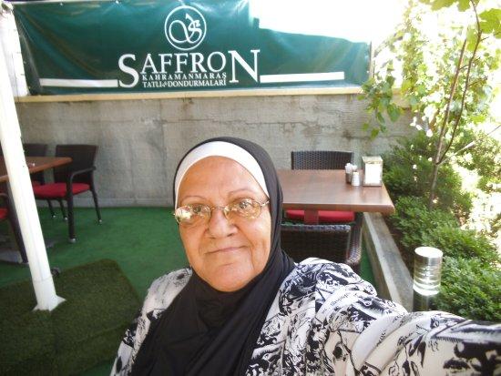 Saffron Ankara: Eating breakfast at the terrace