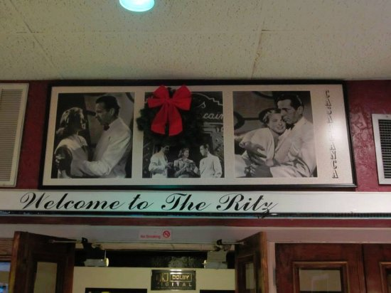 Entrance into Ritz Theatre which is next door to Ritz Cafe