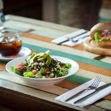 Bubba's Coffee Bar: chicken salad with avo and cold-drip coffee