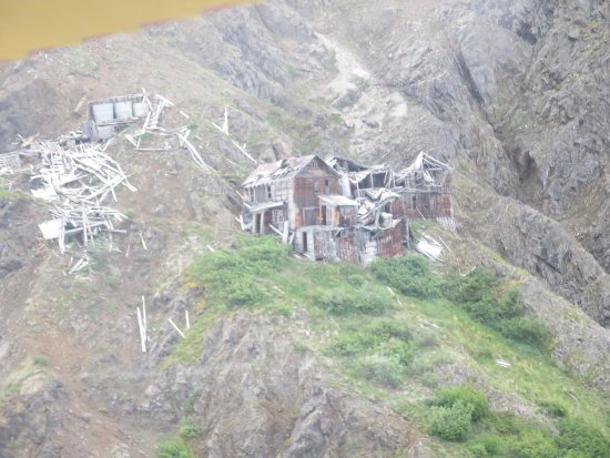 McCarthy, AK: Flew past an abandoned mine high up on the mountainside