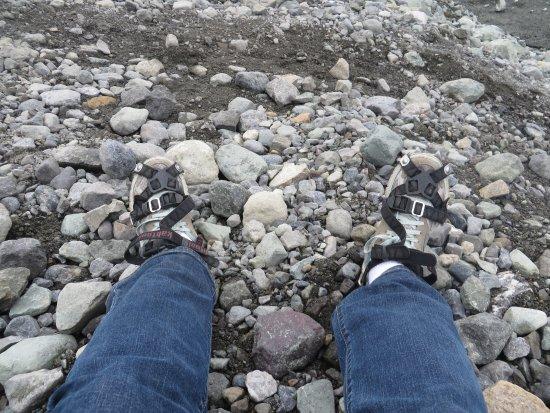 McCarthy, Alaska: Donning my crampons