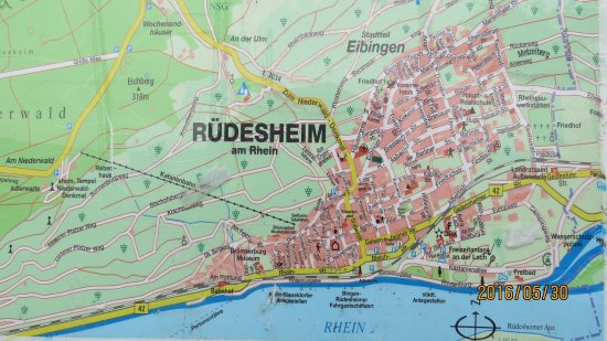 Rudesheim Germany Map.In The Old Town Picture Of Tourist Information Ruedesheim