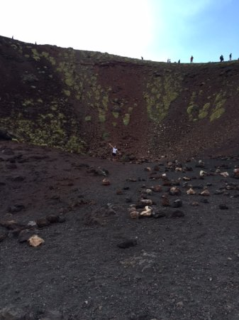 Italy Limousine: Inside Mt Etna crater. Can you spot me?