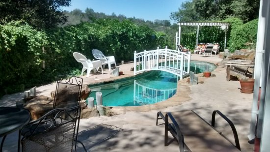 Oak Hill Inn : Hand-crafted pool in back area