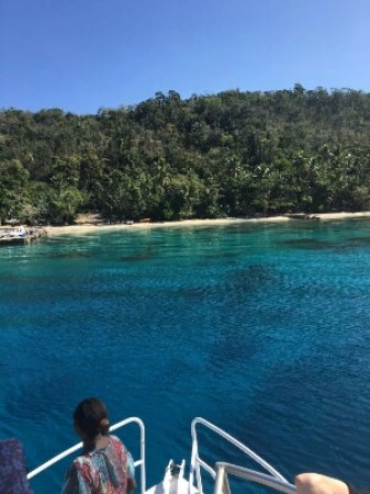 South Pacific Cruises - Coongoola Day Cruise: Coming in to Tranquility Island