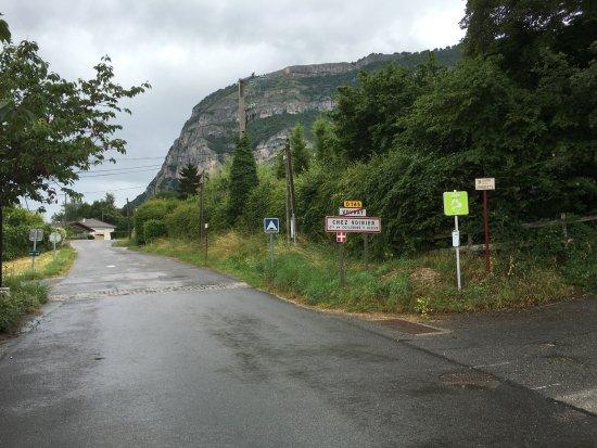 Archamps, Frankrijk: Le Salève depuis le restaurant