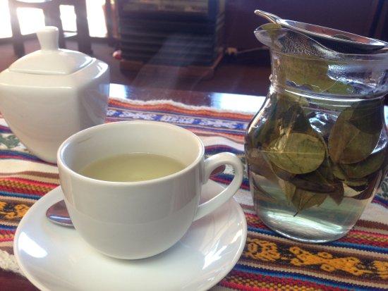 Hostal Wara Wara: ウェルカムドリンクのコカ茶