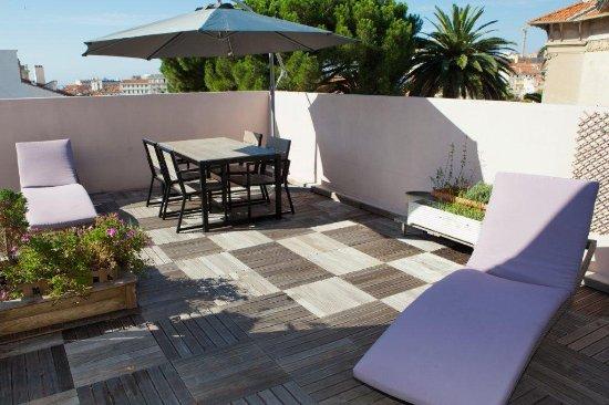 Villa Carnot: Terrasse de l'Appartement Presidentiel
