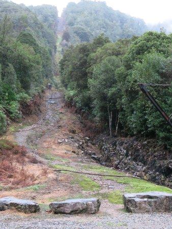 Westport, New Zealand: Bottom of the Denniston incline cableway.