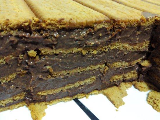 Province of Lugo, إسبانيا: Un postre tipico tarta de galleta con chocolate