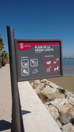 Puerto Real, Spain: cartel playa