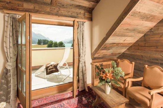 Silvaplana, Schweiz: Panoramazimmer