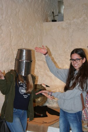 Ballyhack Castle: Getting to try out some of the armour !
