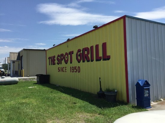 The Spot Grill: Signage facing US 70