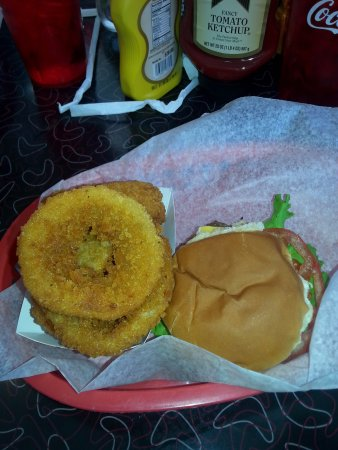 Chillicothe, OH: onion rings & 1 cheeseburger (they are slider sized and delicious)