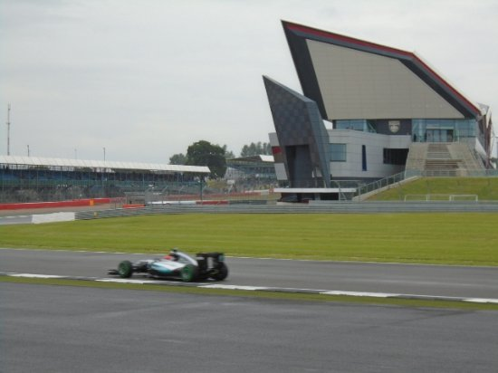 Silverstone, UK: The Wing and the Merc!