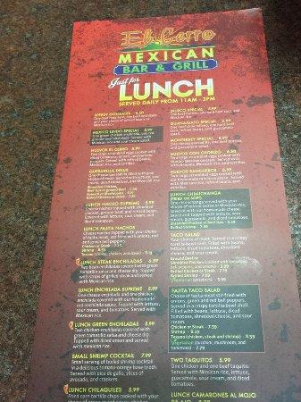 Havelock, Carolina del Nord: Lunch menu