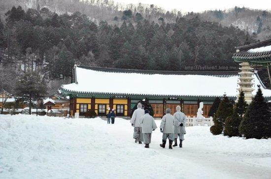 Pyeongchang-gun, Südkorea: 월정사의 겨울