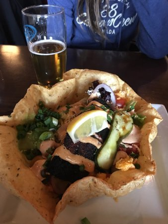 Simcoe Arms: The blacked salmon tortillas bowl special, one of my faves yet! This should make its way to the