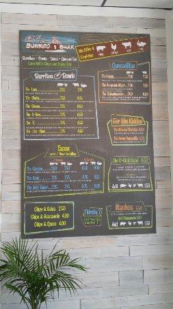 Hampstead, NC: Cali Burrito with the cabbage and lime sour cream! Fantastic burrito!