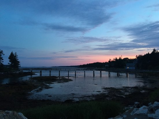 South Bristol, ME: Dusk view from Coveside.