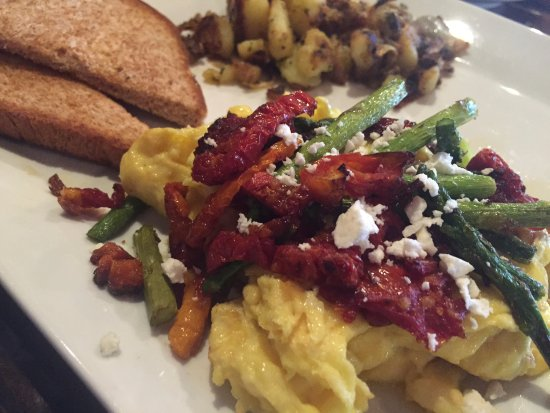 Scrambled Eggs With Sun-Dried Tomatoes And Feta Recipe — Dishmaps