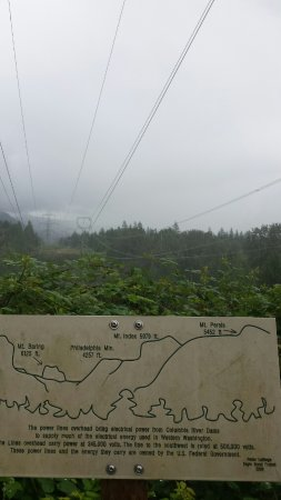 Gold Bar, WA: Power Lines and Map.