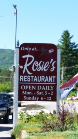 Rosie's Restaurant: Sign on highway