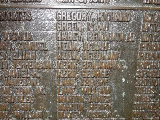 Vicksburg National Military Park: At the Illinois Monument we were able yo locate our ancestor's names.