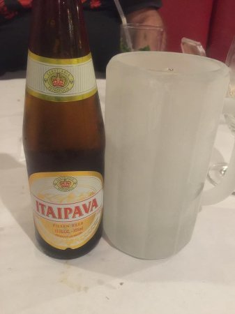 Little Brazil: Ice cold glass to go with an excellent Brazilian beer