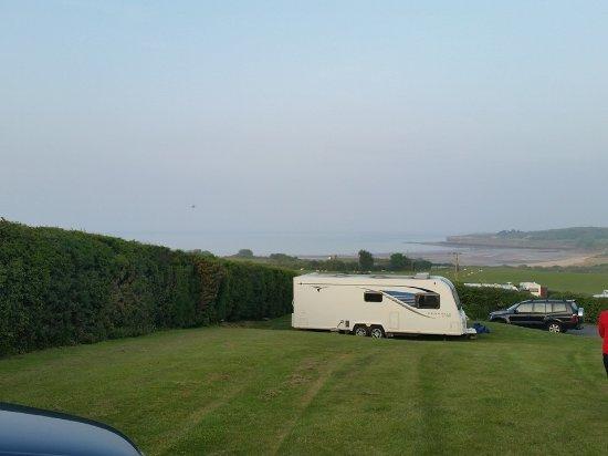 Dulas, UK: Bae Lligwy from Tyddyn Isaf Caravan and camping site