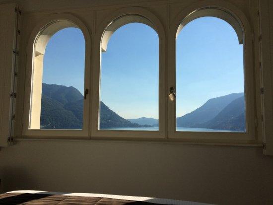 Pognana Lario, Italia: The view from the master bedroom