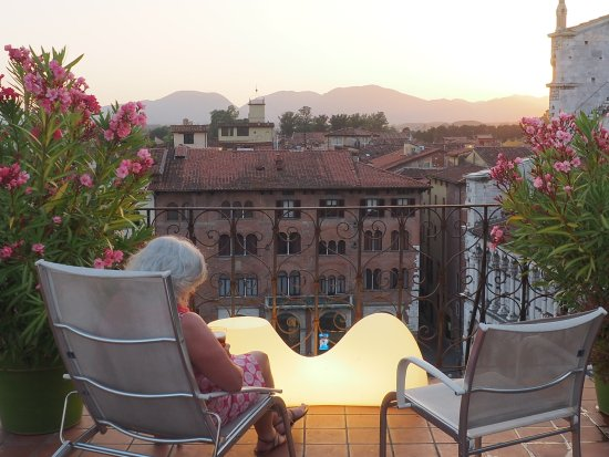Palazzo Rocchi: View from roof terrace