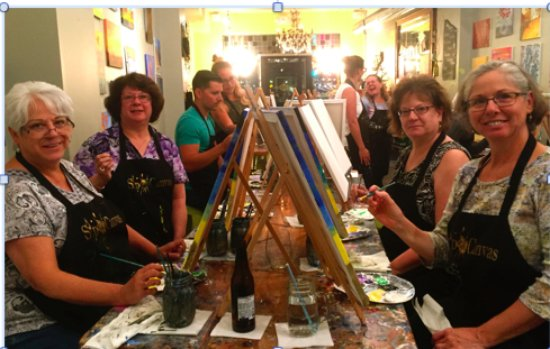 Glens Falls, NY: A great night at Sip 'n Canvas!