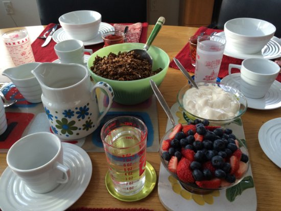 Richland Center, WI: Jane's home made granola is exceptional