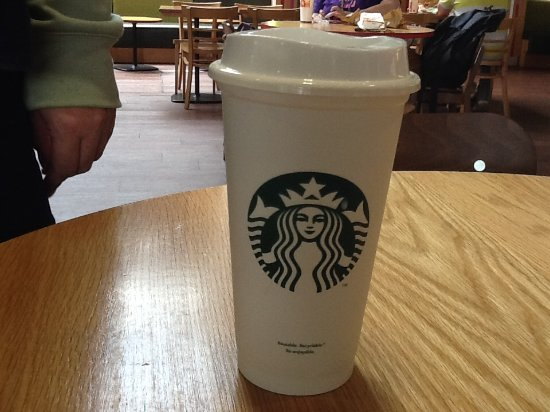 Potters Bar, UK: Coffee in own cup