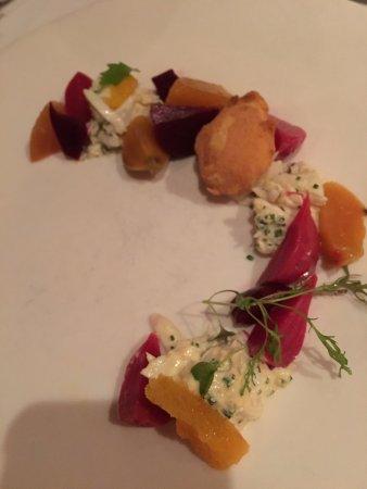 Restaurant August: Beet Salad Appetizer at August