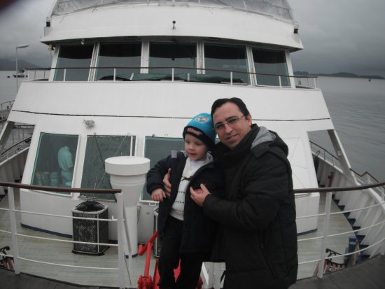 Barco Principe Joinville: Apreciando a frente do barco