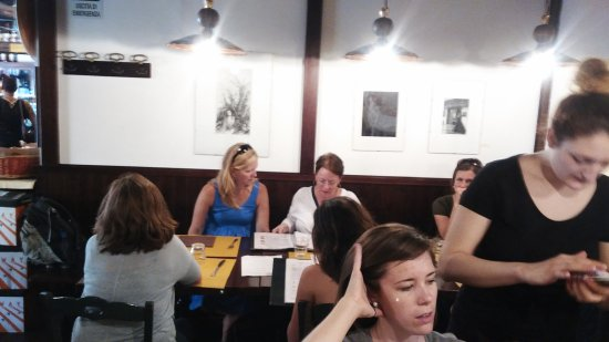 Osteria del Lupo Nero : our group, 12 in a room