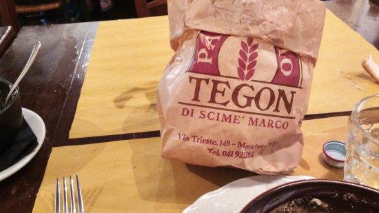 Osteria del Lupo Nero : Bread in a bag