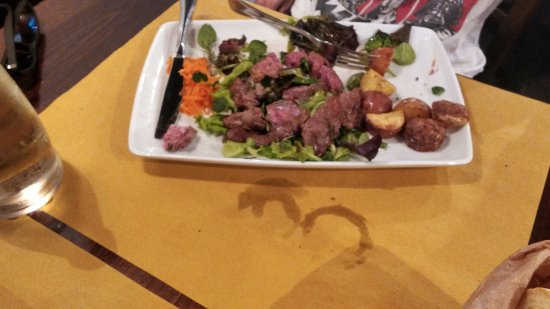Osteria del Lupo Nero : My friends dish, sorry I don't have the name, but I think it was a steak salad