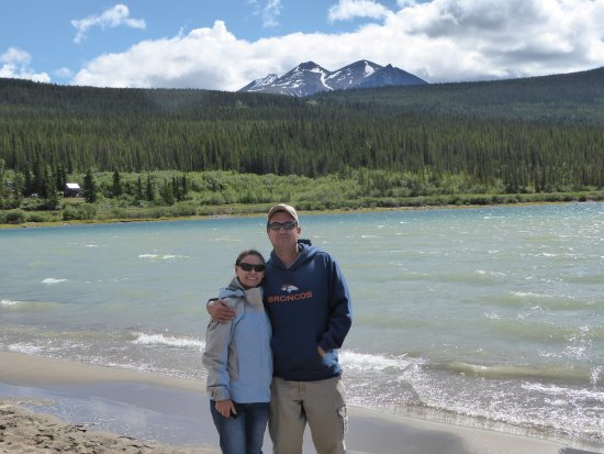 Bennett Beach: MY Daughter and son in law at Bennett Lake