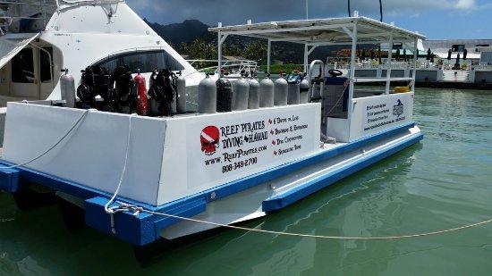 Reef Pirates Diving: Dive/Surf Boat Mele Kai