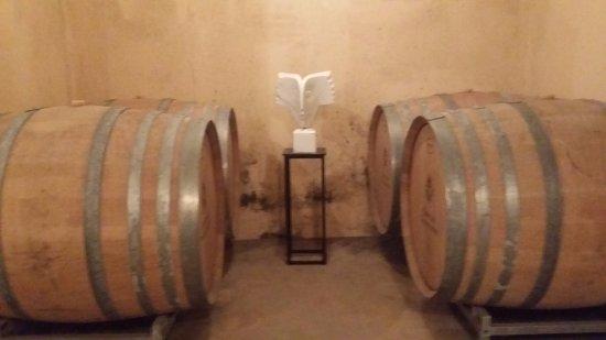 Rians, Франция: Nere i vinkällaren bland konst och tunnor