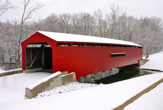 Elkton, MD: The red is only beautified by the fresh snow
