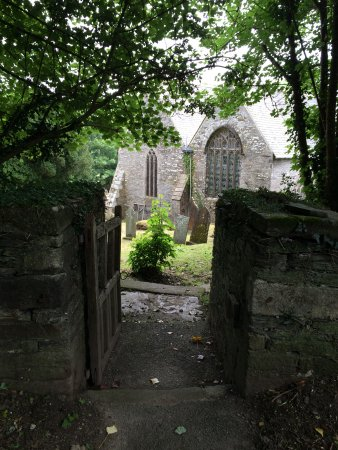 St. Mawgan, UK: St.Mawagn Church from the rear.